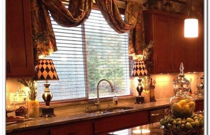 Tuscan Style Curtains Kitchen