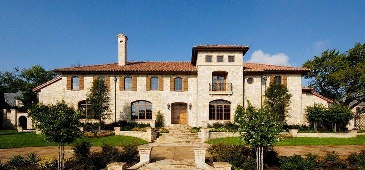 Tuscan Style Luxury Home Dallas Homes Mediterranean Italian