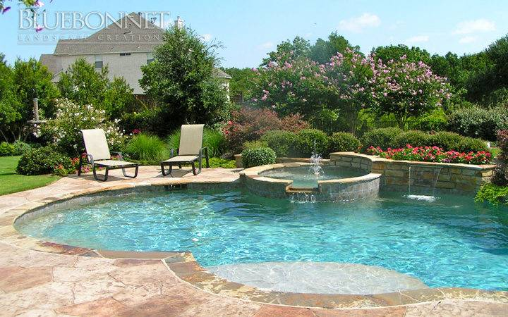 Tuscan Themed Landscape Around Absolutely Gorgeous Pool Large