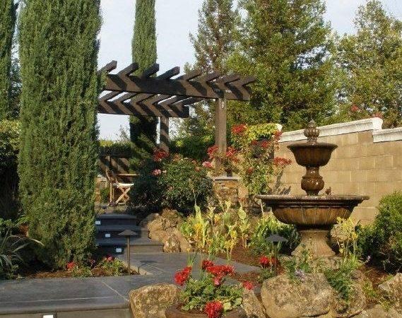 Tuscan Yard Mediterranean Style Landscaping Pinterest