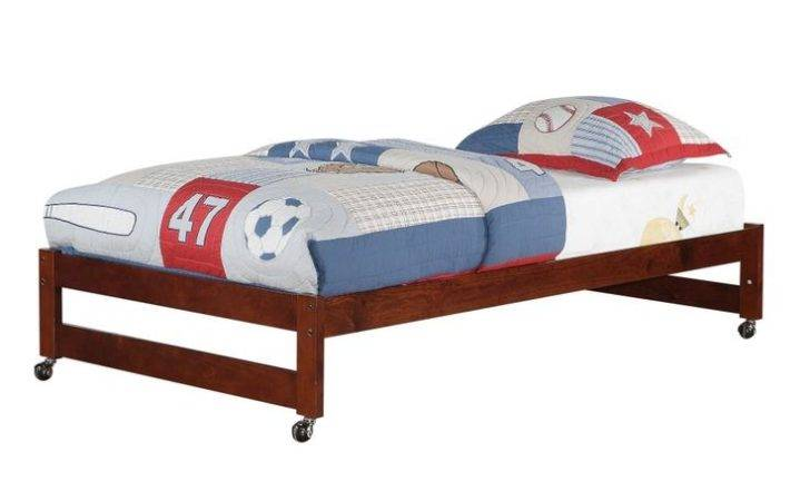 Twin Caster Bed Cappuccino Rug Rollers Shipping