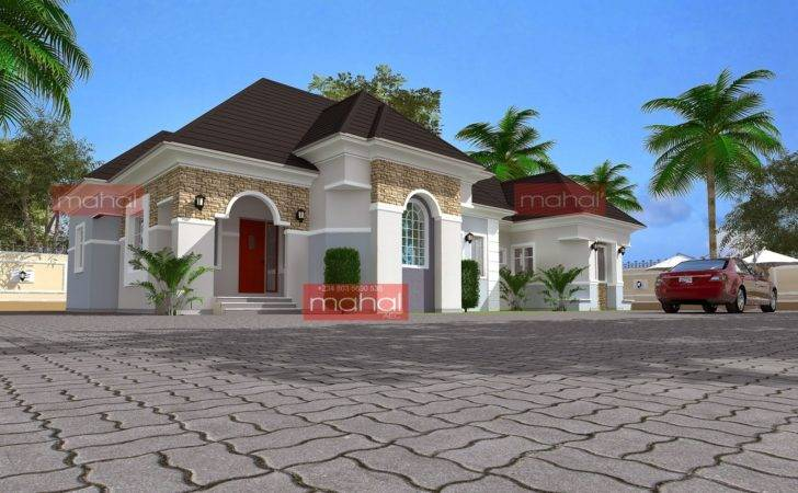 Twin Home House Plans Well Bedroom Bungalow Plan Nigeria