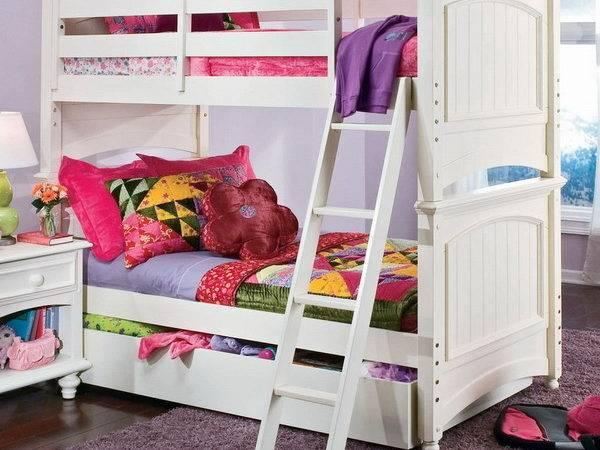 Twin Over Bunk Bed Bedroom Design Ideas Girls