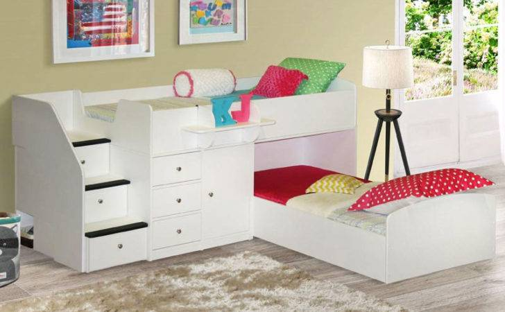 Twin Over Low Bunk Bed Extra Deep Drawers