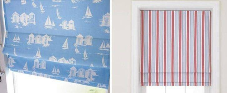 Two Fabulous Seaside Themed Fabrics Our Roman Blinds Range