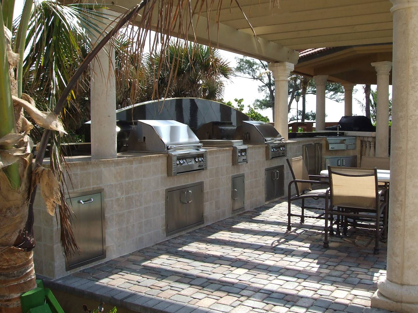Two Photos New Outdoor Summer Kitchen Besides Grills Ovens