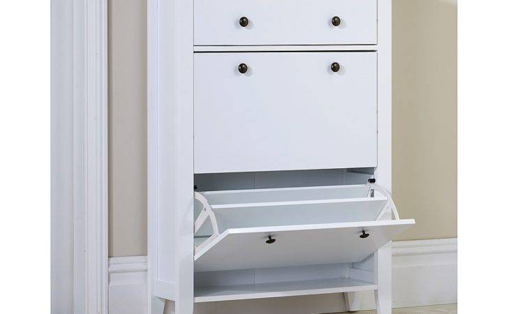 Two Tier Shoe Cabinet Drawer Stylish Unit