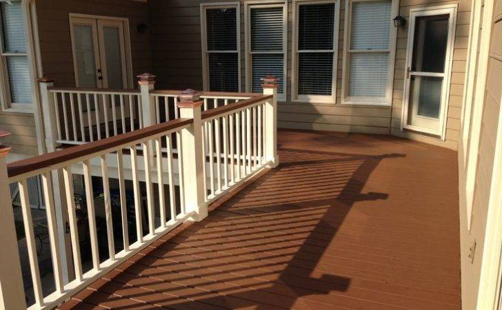 Two Tone Deck Copper Solar Lights Solid Stain Painted Rails