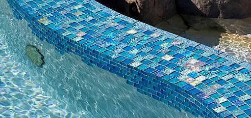 Two Views Lightstreams Red River Jewel Glass Bullnose Trim Tile