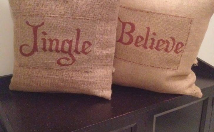 Two Yourself Diy Burlap Christmas Pillows