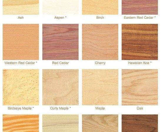 Types Wood Pinterest