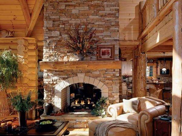 Tysingers Gas Fireplace Echoes Rustic Homes Early North