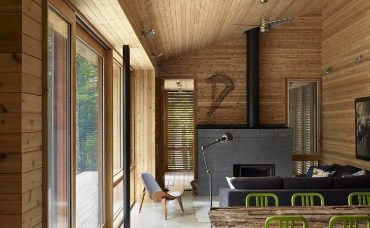 Ultra Modern Cabin Blends Rustic Warmth Minimalism