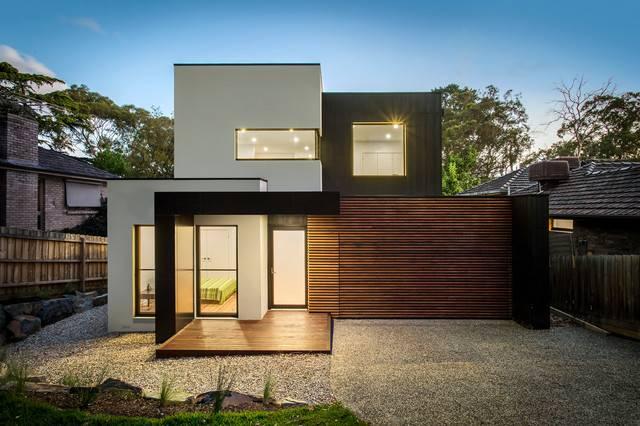 Ultra Modern Facade Timber Render Features