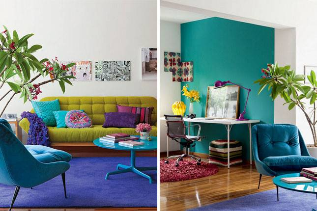 Unbelievably Colorful Living Rooms Brit