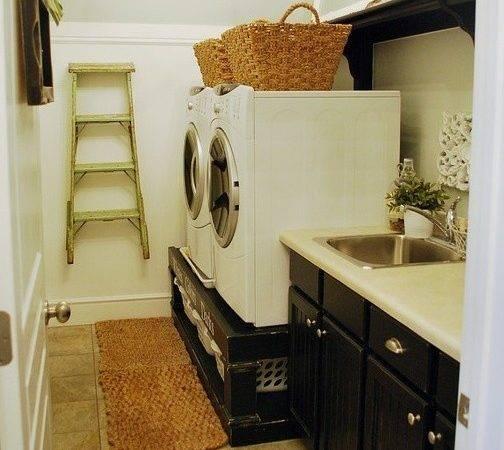 Under Washer Dryer Storage