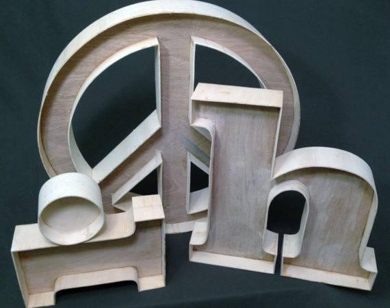 Unfinished Custom Wood Letters Viragodemure Etsy