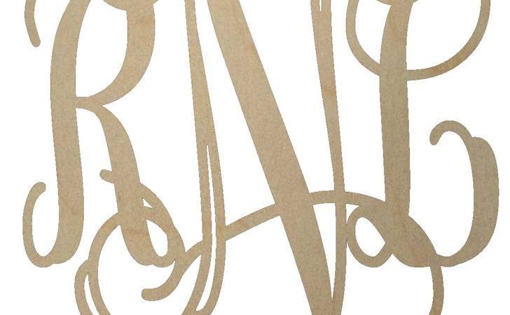 Unfinished Wooden Monogram Script
