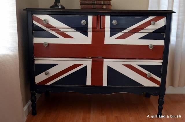 Union Jack Dresser Diy Furniture Projects Pinterest
