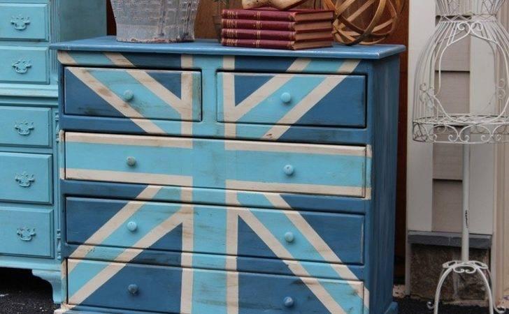 Union Jack Dresser Paint Ideas Pinterest