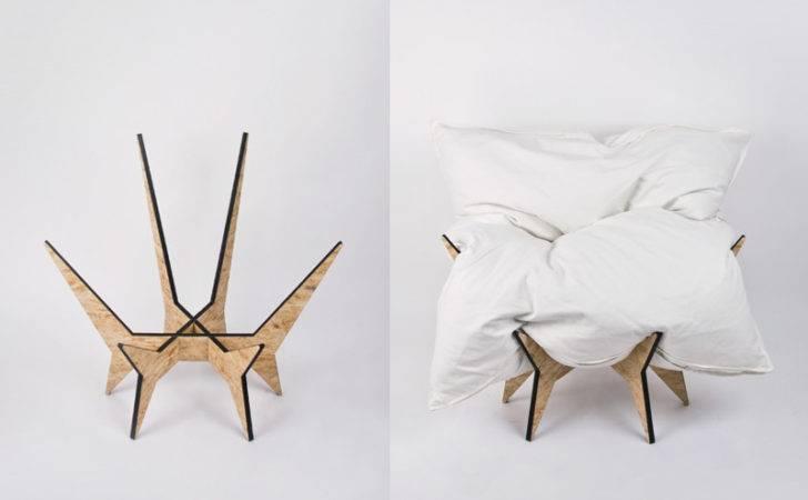 Unique Comfy Chair Base Frame Pillow Digsdigs
