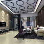 Unique False Ceiling Modern Design Interior Living Room