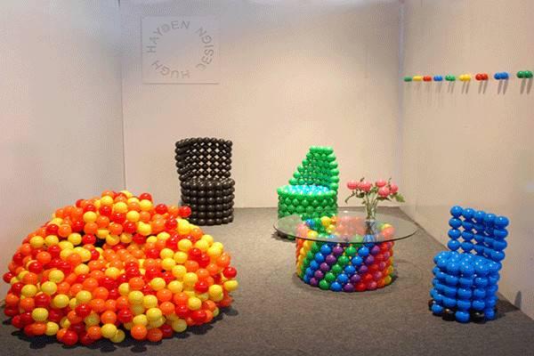 Unique Furniture Designs Recycling Tennis Balls Playful Seats