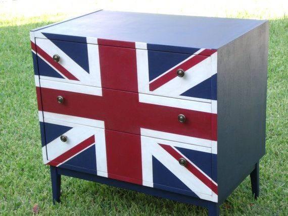 Unique Hand Painted Union Jack Dresser Home Pinterest