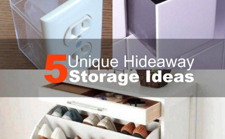 Unique Hideaway Storage Ideas