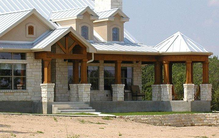 Unique Ranch House Steel Roof Wrap Around Porch