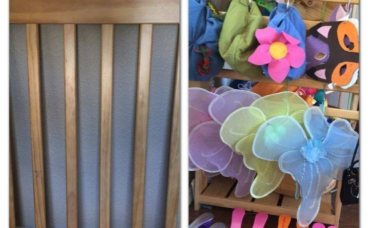 Upcycled Old Crib End Into Dress Accessory Organizer Turn