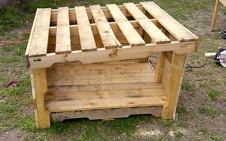 Upcycled Wood Pallet Dog House Pallets