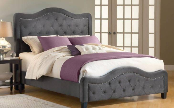 Upholstered Bed Frame Bedroom Furniture Tufted Headboard
