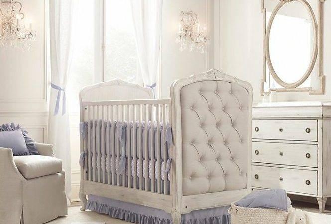 Upholstered Crib White Blue Nursery Jpeg
