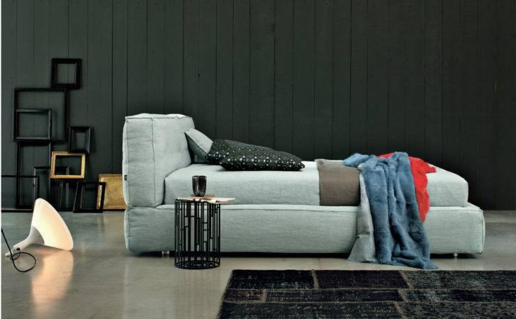 Upholstered Double Bed Academy Piuma Design Line Twils