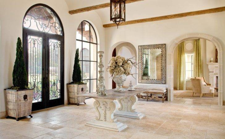 Uplifting Mediterranean Hall Designs Welcome