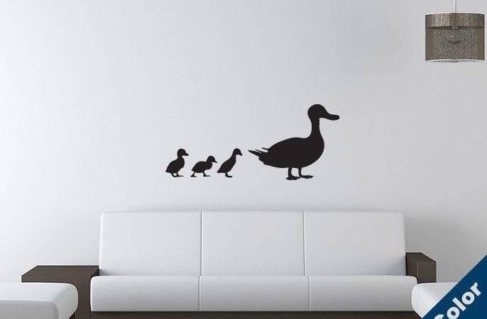 Urban Decal Duck Ducklings Wall