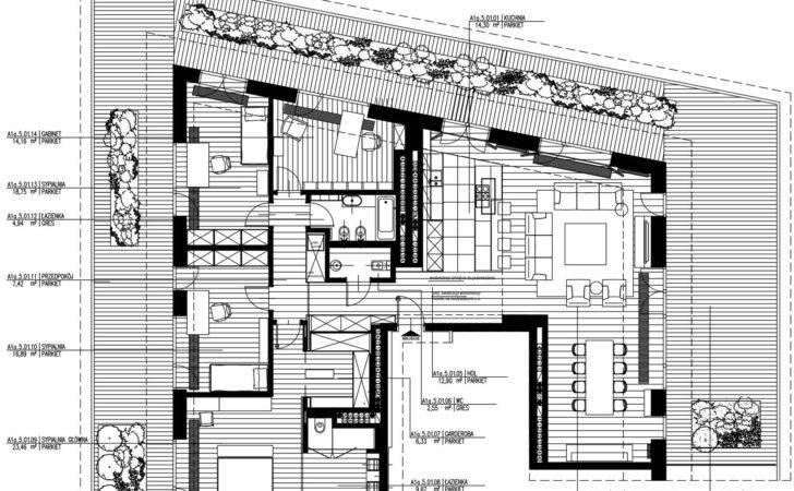 Urban Living Space Floor Plan Drawing Luxury Penthouse Design