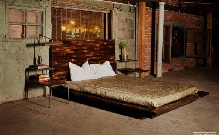 Urban Rustic Beds Industrial Bedroom Design