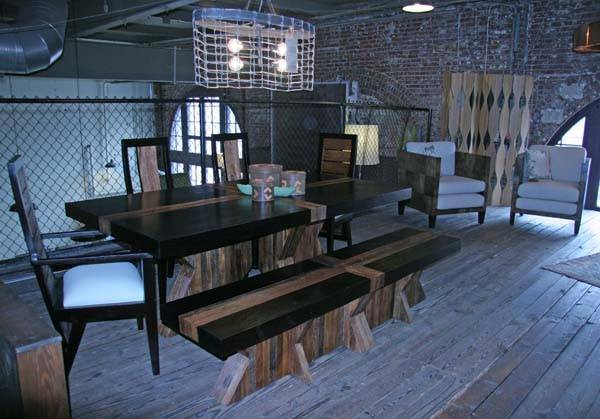Urban Rustic Collection Dining Table Design