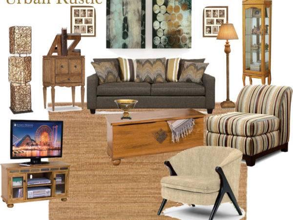 Urban Rustic Living Room Polyvore