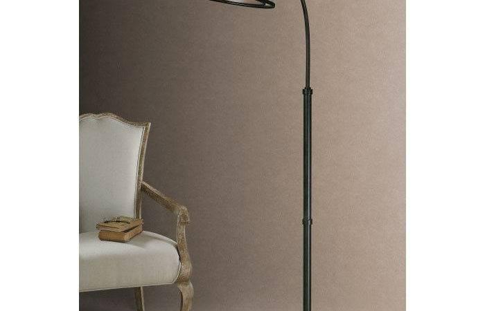 Uttermost Worland Light Arc Floor Lamp Industy Matte Black