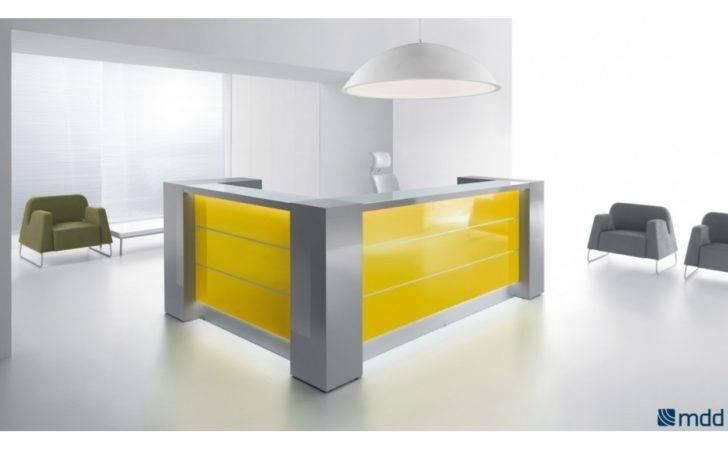 Valde Shape Reception Desk Modern Manhattan