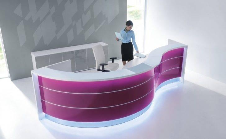 Valde Wave Design Curved Reception Desk Modern Manhattan