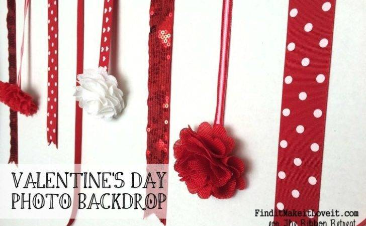 Valentine Day Backdrop Blogger Competition Ribbon