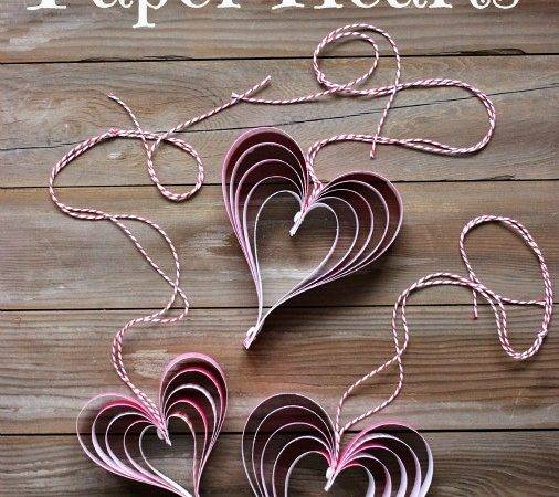 Valentine Day Craft Make Paper Hearts Instructions