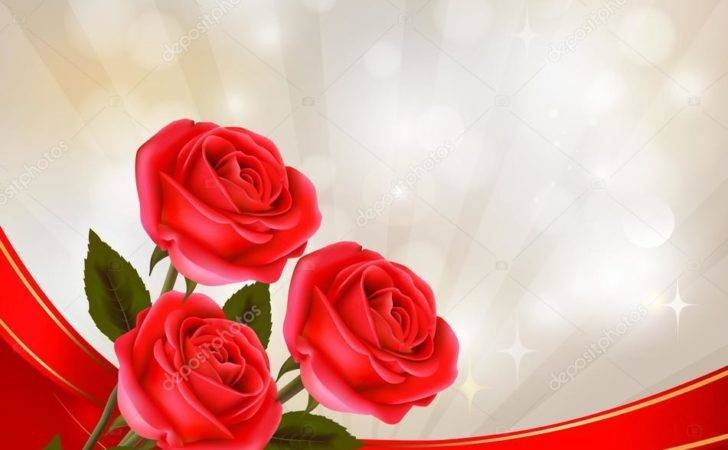 Valentine Day Red Rose Gift Ribbons