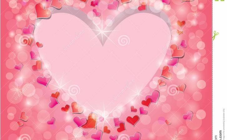 Valentine Day Wedding Pink Red Hearts Confetti