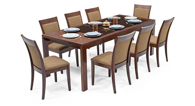 Vanalen Extendable Dalla Seater Glass Top Dining Table Set