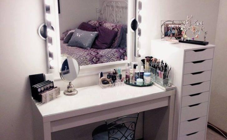 Vanity Makeup Table Ikea Storage Simple Functional